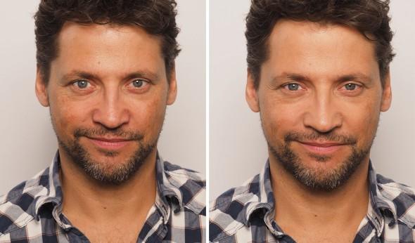 Männer Make Up Vorher Nachher