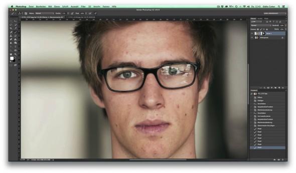 10 Brillenspiegelung entfernen mit Ebenenmasken